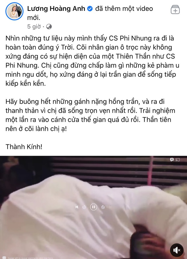 Vợ cũ Huy Khánh phát ngôn gây tranh cãi: Phi Nhung ra đi hoàn toàn đúng ý trời - Ảnh 2.