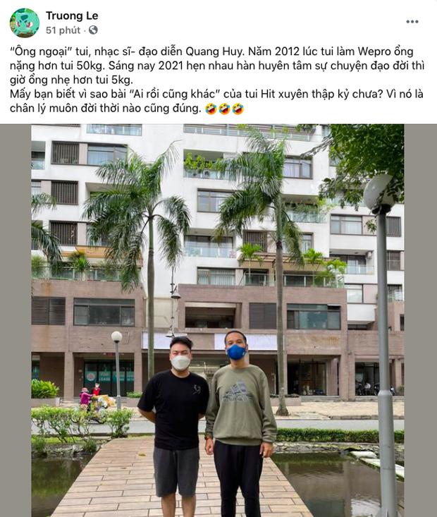 Ông bầu Quang Huy gây sốc với body gầy rõ hậu giảm 30kg, đứng cạnh Hamlet Trương mà không nhận ra - Ảnh 2.