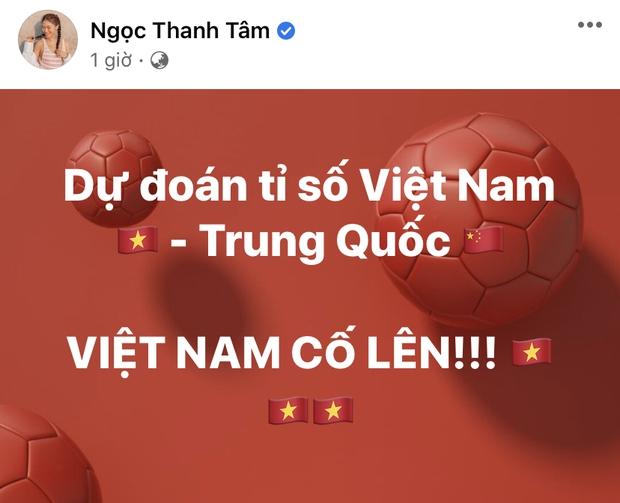 Đúng nửa đêm, Kỳ Duyên và dàn sao Vbiz hừng hực khí thế tiếp lửa cho tuyển Việt Nam trận gặp Trung Quốc - Ảnh 11.