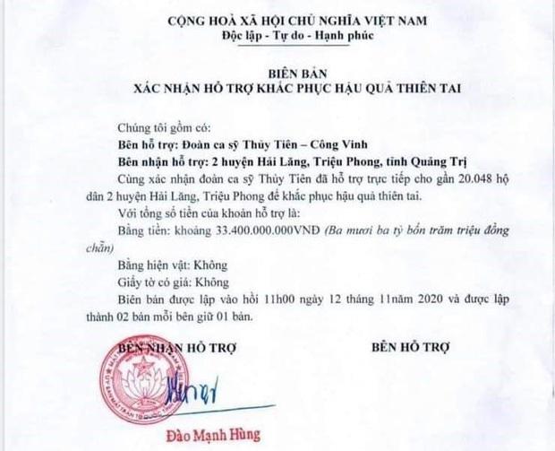 Phía Thuỷ Tiên làm rõ lý do không thống kê được chính xác số tiền từ thiện ở Quảng Trị? - Ảnh 2.