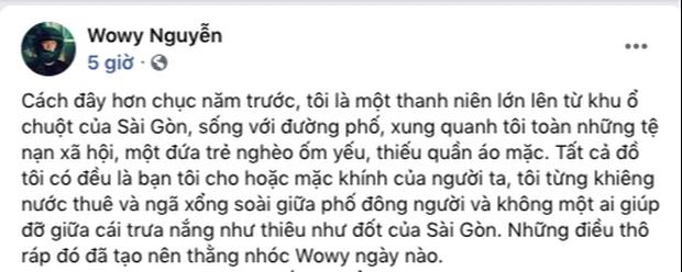 Bị antifan chê đu fame, nịnh hót đại gia Minh Nhựa, Wowy lập tức đáp trả: Bạn nghèo không được quyền có bạn là người giàu hả em? - Ảnh 2.