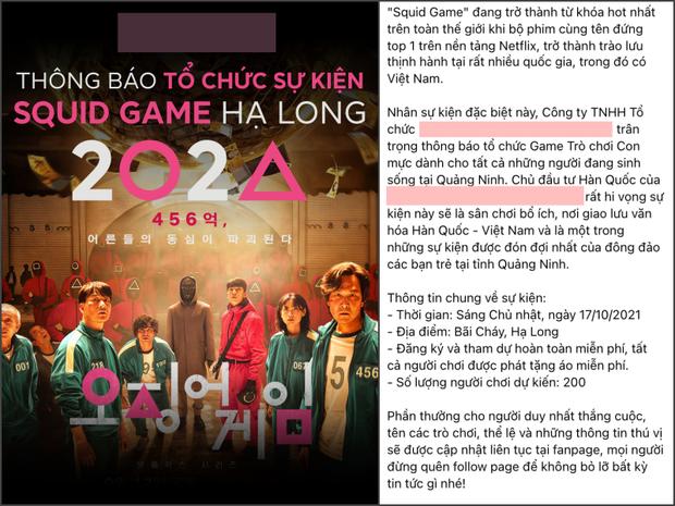 Xôn xao thông tin 1 đơn vị ở Quảng Ninh tổ chức sự kiện Squid Game quy mô lên đến 200 người, nghi vấn lừa đảo rõ mồn một? - Ảnh 1.