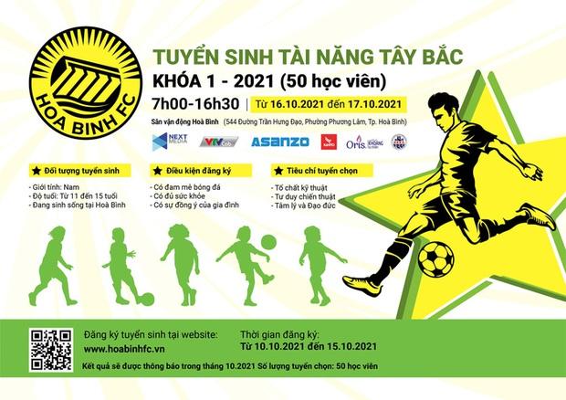 Next Media cam kết đầu tư bóng đá trẻ, Hoà Bình FC chính thức tuyển sinh - Ảnh 1.