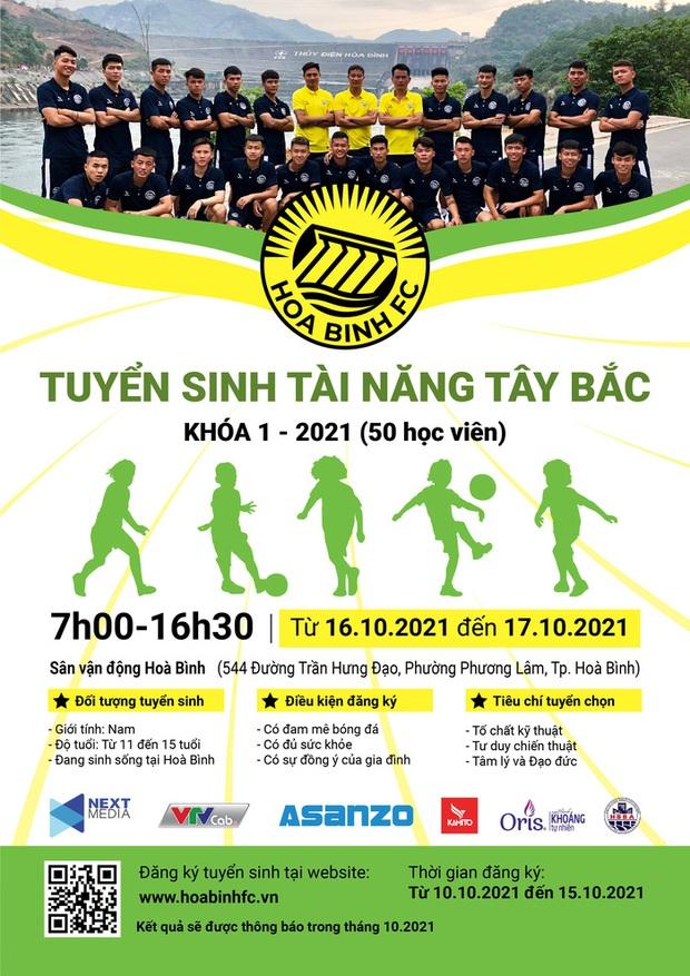 Next Media cam kết đầu tư bóng đá trẻ, Hoà Bình FC chính thức tuyển sinh - Ảnh 2.