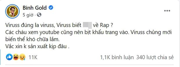 Bị nam rapper đá đểu không biết gì về rap sau khi reaction Sơn Tùng, ViruSs có màn đáp trả làm dân tình mong có ngay một trận beef - Ảnh 1.