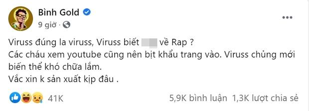Mời bạn chọn phe: Bình Gold phán đàn gảy tai trâu, ViruSs cũng đăng đàn 2 status rồi bình luận đáp trả lại một nốt nhạc còn không biết - Ảnh 2.