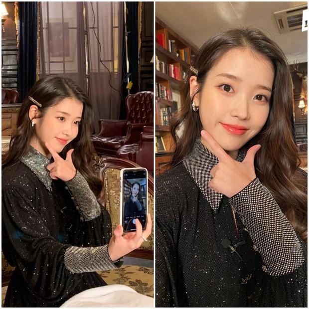 Netizen phát sốt vì trình độ selfie thượng thừa với camera sau iPhone của IU - Ảnh 2.