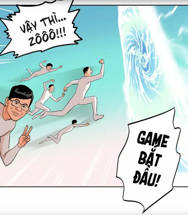 Bom tấn truyện tranh của SBTC Epsorts chính thức ra mắt: Vì háo sắc nên Thầy giáo Ba cùng học trò bị cuốn vào thế giới ảo! - Ảnh 2.
