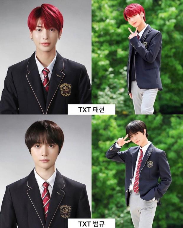 Ảnh tốt nghiệp của dàn idol tại trường Trung học Nghệ thuật gây bão: Em trai BTS hết chỗ chê, dàn idol nữ kém nổi xinh bất ngờ - Ảnh 2.