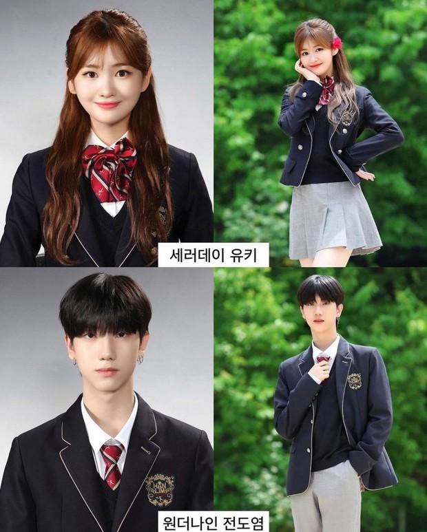 Ảnh tốt nghiệp của dàn idol tại trường Trung học Nghệ thuật gây bão: Em trai BTS hết chỗ chê, dàn idol nữ kém nổi xinh bất ngờ - Ảnh 7.