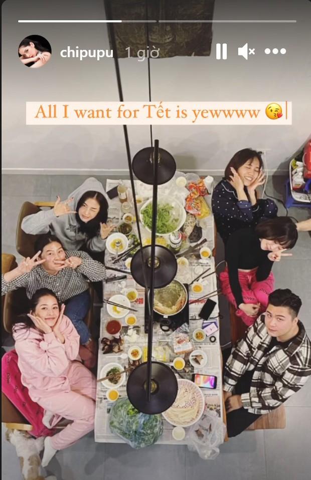 Hội bạn hotgirl Hà Thành của Chi Pu mở tiệc tất niên nhưng khác hẳn mọi năm: 3 thành viên tụ họp, còn Quỳnh Anh Shyn? - Ảnh 2.