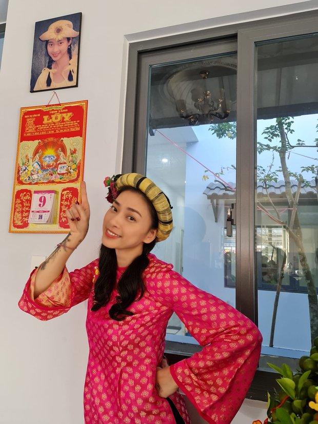 Sao Việt đọ dáng với áo dài: Hà Tăng, Lan Ngọc đội mấn trẻ trung, Quỳnh Anh Shyn diện áo trễ vai gợi cảm - Ảnh 6.