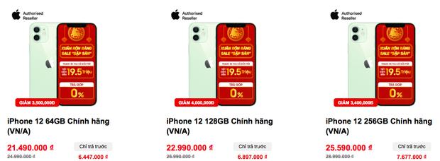 Giá iPhone 12 tiếp tục giảm mạnh ngày cuối năm - Ảnh 2.