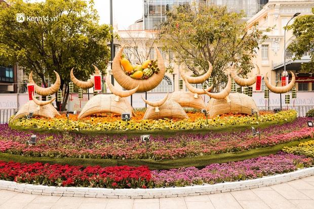 Ảnh: Đường hoa Nguyễn Huệ Sài Gòn năm nay đẹp nhức nách không sến chỉ thấy sang, lên hình góc nào cũng ảo - Ảnh 4.