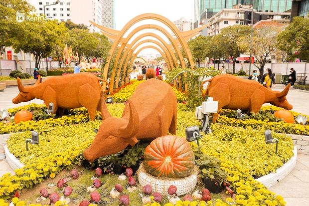 Ảnh: Đường hoa Nguyễn Huệ Sài Gòn năm nay đẹp nhức nách không sến chỉ thấy sang, lên hình góc nào cũng ảo - Ảnh 8.