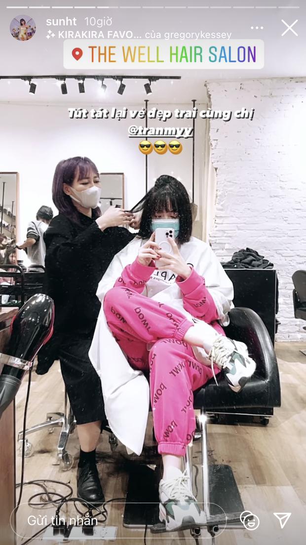 """Sao Việt làm đẹp giờ chót: Hoà Minzy cắt tóc, Ngọc Trinh khoe nail ngắn """"max"""" xinh - Ảnh 3."""
