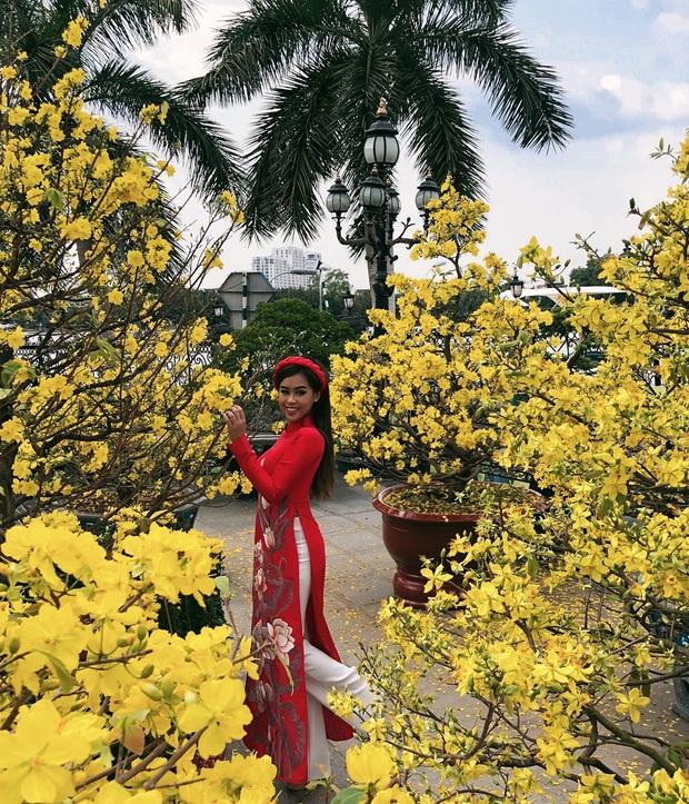 Cả năm đắp hàng hiệu nhưng Tết là Tiên Nguyễn lại diện đồ truyền thống, tiện khoe luôn background biệt thự to đùng vật vã - Ảnh 9.