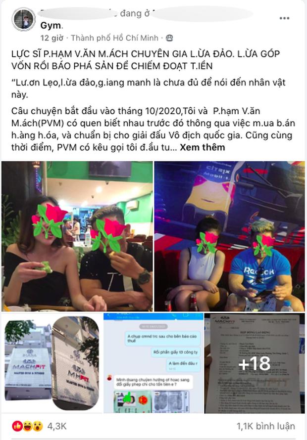 Biến căng: Ngày mùng một Tết, lực sĩ Phạm Văn Mách bị tố ngoại tình và lừa đảo chiếm đoạt tài sản - Ảnh 2.