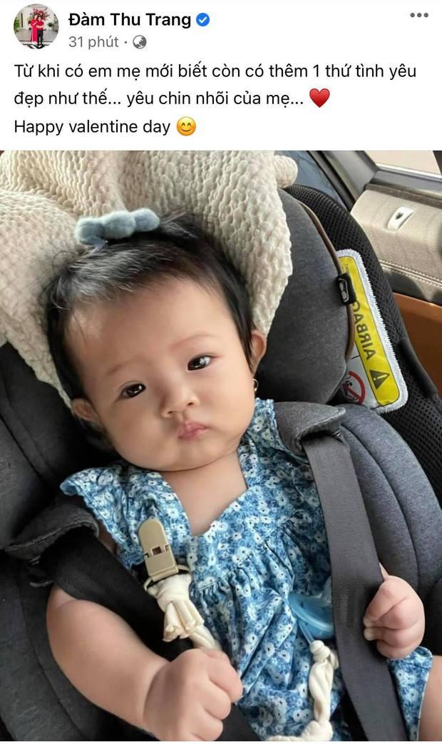 """Cường Đô La lần đầu hé lộ cận mặt ái nữ """"ngậm thìa vàng"""", Đàm Thu Trang có phản ứng khi bị chồng """"phũ"""" vào đúng ngày 14/2! - Ảnh 3."""