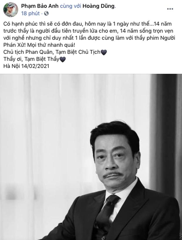NS Hồng Vân, Quốc Trường và sao Vbiz đau buồn, tiếc thương khi hay tin NSND Hoàng Dũng qua đời - Ảnh 16.