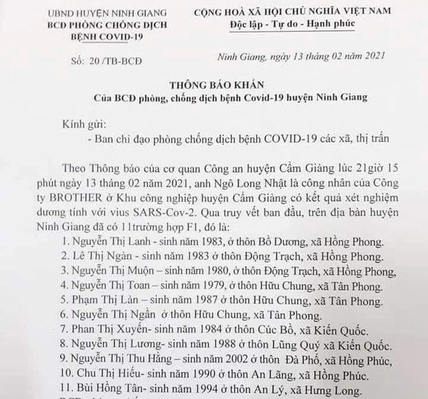 KHẨN: Những ai tiếp xúc với 11 công dân và lái xe ô tô huyện Ninh Giang khẩn trương khai báo y tế - Ảnh 1.