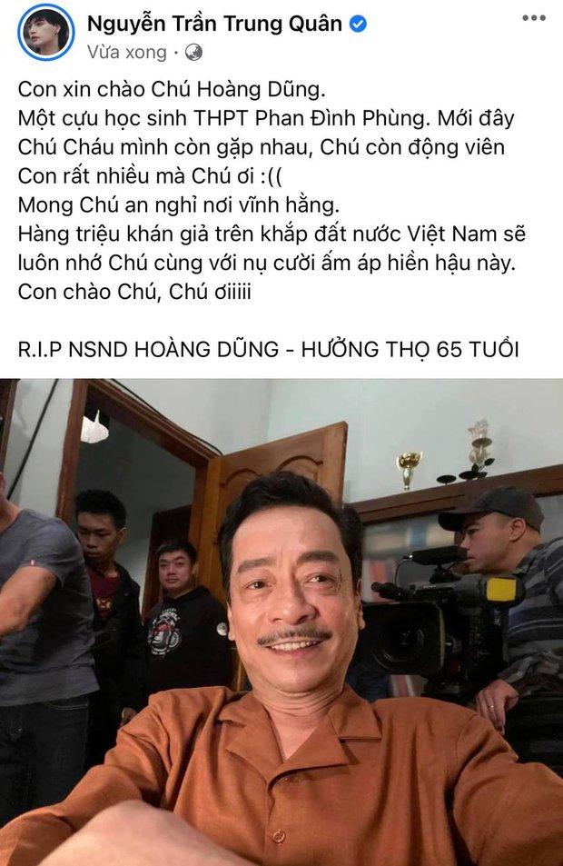 NS Hồng Vân, Quốc Trường và sao Vbiz đau buồn, tiếc thương khi hay tin NSND Hoàng Dũng qua đời - Ảnh 6.