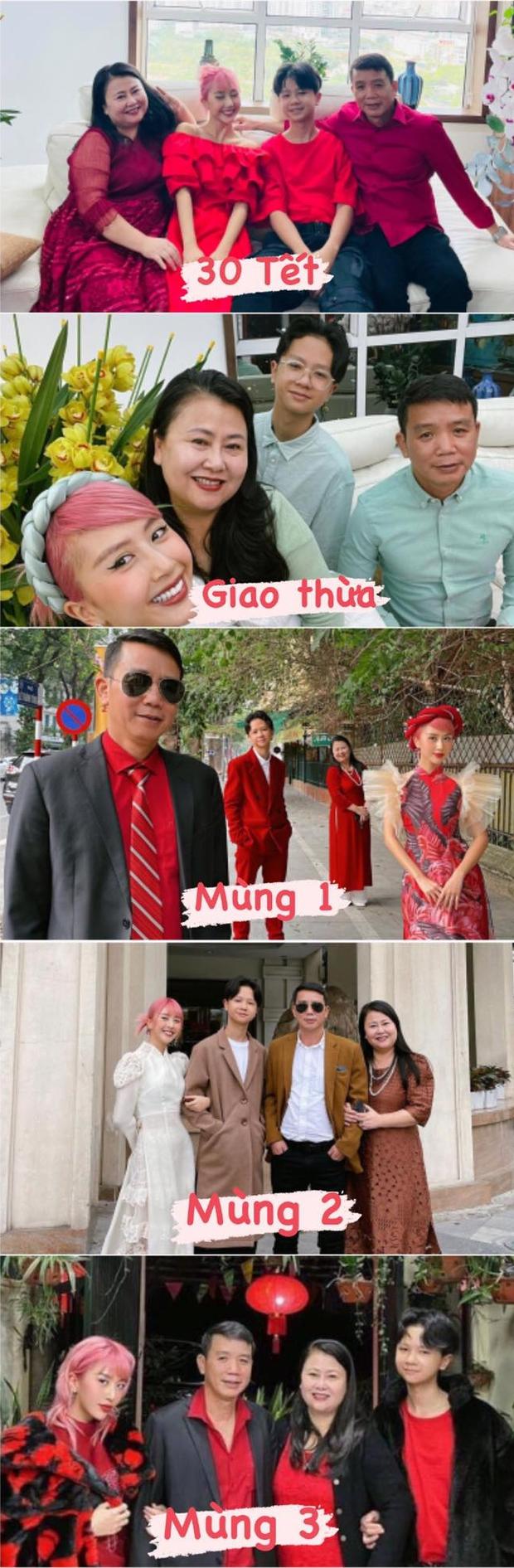 Chất nhất Tết này là nhà Quỳnh Anh Shyn, diện dresscode xuyên Tết như dự fashion week - Ảnh 1.