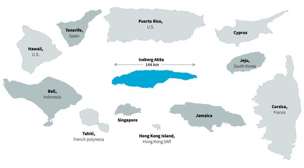 Thảm họa từ tảng băng trôi lớn nhất thế giới - Ảnh 1.