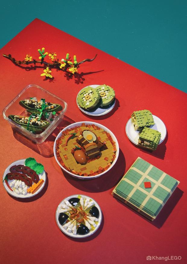 Fanpage nước ngoài đình đám chia sẻ mâm cỗ Tết làm 100% từ mô hình Lego, dân mạng nhận xét: Tự hào quá Việt Nam ơi! - Ảnh 4.