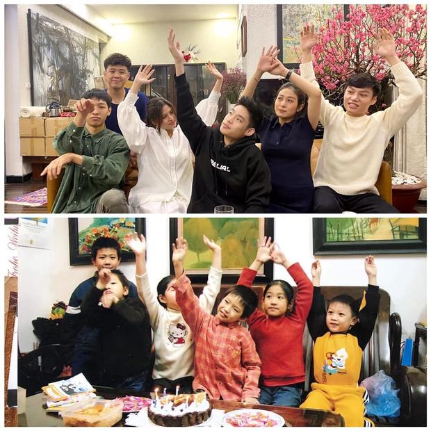 Huyme khoe ảnh gia đình dịp Tết, dân mạng trầm trồ vì visual của cả nhà ai cũng đẹp từ nhỏ, học hành giỏi giang ra trò - Ảnh 1.