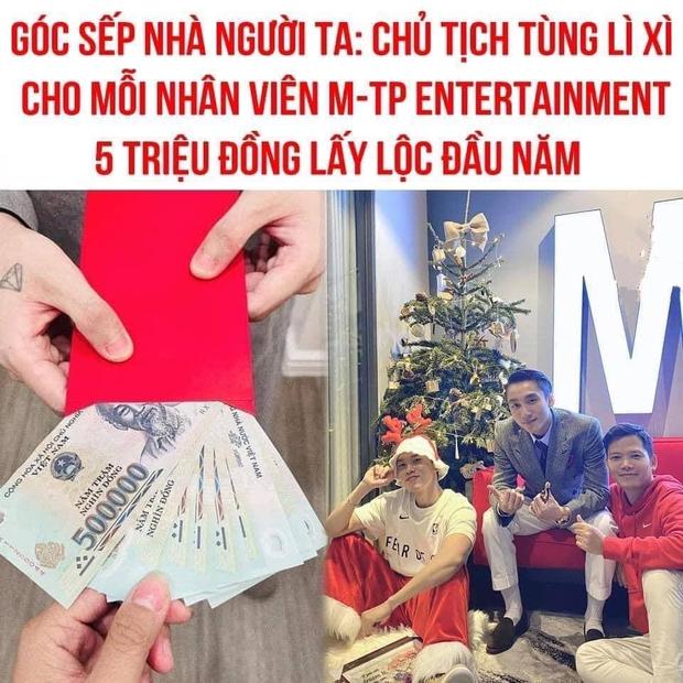 Dân mạng xuýt xoa bức ảnh Sếp nhà người ta Sơn Tùng M-TP lì xì nhân viên 5 triệu, nhưng thực tế số tiền còn lớn hơn? - Ảnh 5.