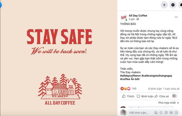 Sáng nay, hàng loạt quán cà phê ở Hà Nội đã chuyển sang bán online hoặc tạm đóng cửa để ngăn chặn dịch bệnh lây lan - Ảnh 5.