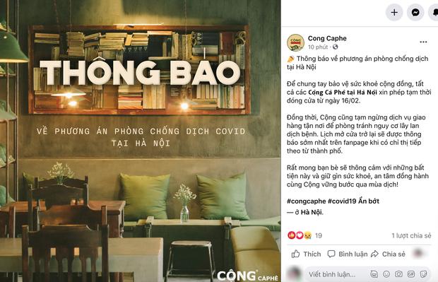 Sáng nay, hàng loạt quán cà phê ở Hà Nội đã chuyển sang bán online hoặc tạm đóng cửa để ngăn chặn dịch bệnh lây lan - Ảnh 9.