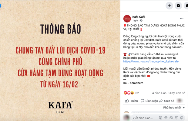 Sáng nay, hàng loạt quán cà phê ở Hà Nội đã chuyển sang bán online hoặc tạm đóng cửa để ngăn chặn dịch bệnh lây lan - Ảnh 13.