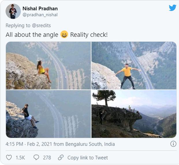 Đăng bức ảnh chụp trên vách đá cheo leo, cặp đôi bị ném đá tơi bời vì quá mạo hiểm, nhưng sự thật phía sau khiến tất cả câm nín - Ảnh 2.