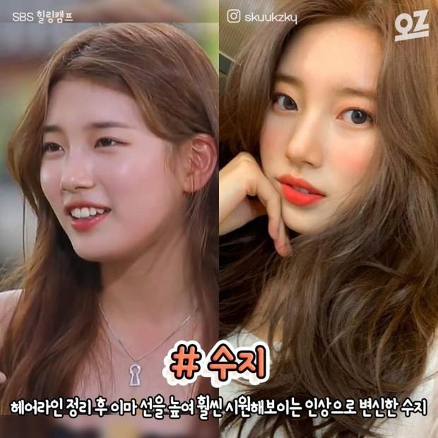 """4 idol nhan sắc """"lên hương"""" nhờ thay đổi đường chân tóc: Yoona, Suzy như nữ thần nhưng màn lột xác của Sunmi mới đỉnh - Ảnh 3."""