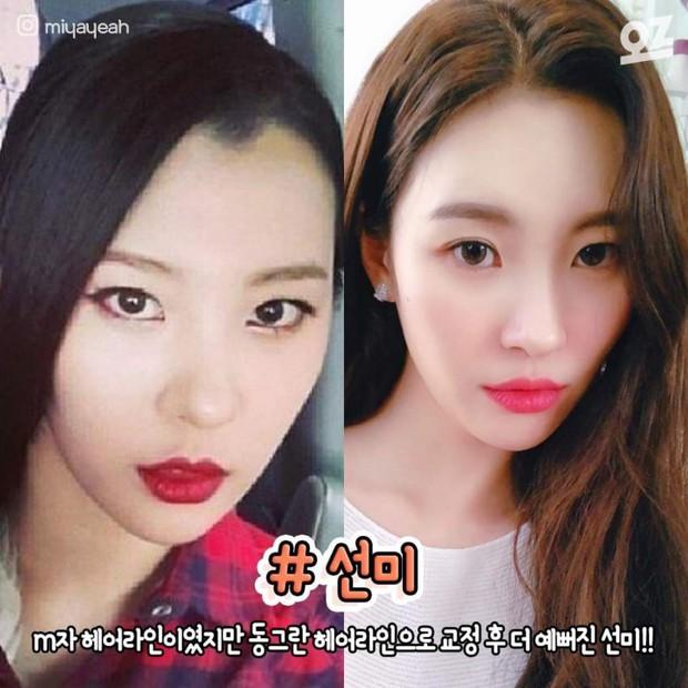 """4 idol nhan sắc """"lên hương"""" nhờ thay đổi đường chân tóc: Yoona, Suzy như nữ thần nhưng màn lột xác của Sunmi mới đỉnh - Ảnh 9."""