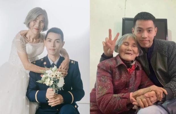 Bộ ảnh cưới của chàng lính cứu hỏa và cô dâu lệch tới 61 tuổi gây chấn động MXH, hóa ra đằng sau là câu chuyện ấm lòng ít ai đoán được - Ảnh 1.