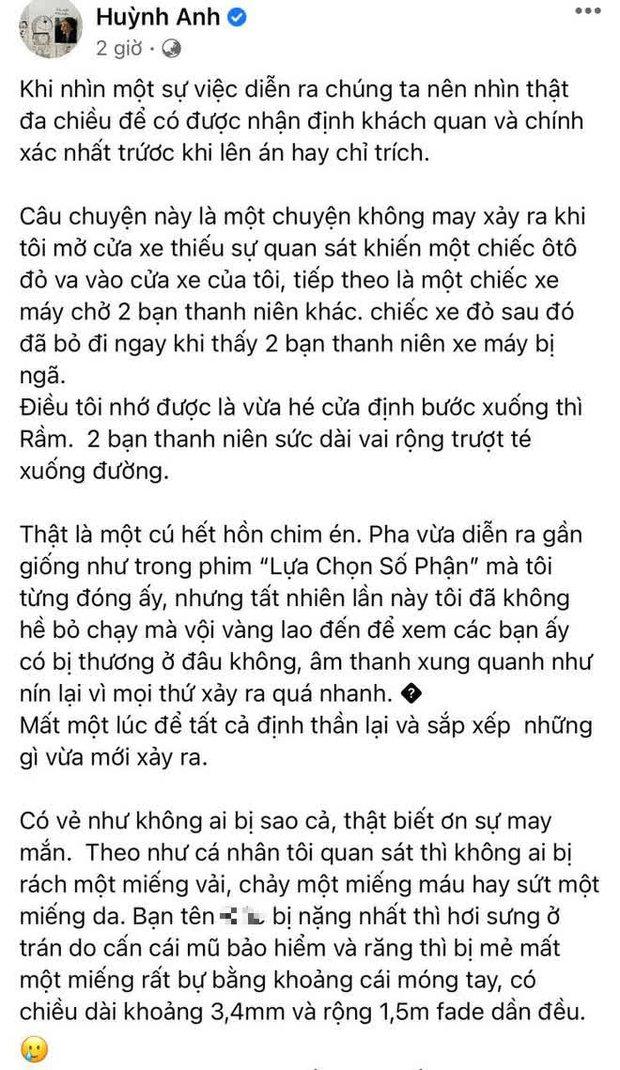 Bị đấu tố, Huỳnh Anh viết tâm thư phản bác: Bức xúc vì chuyện bị bóp méo, kể lại chi tiết vụ tai nạn nhưng vội xoá đi? - Ảnh 5.
