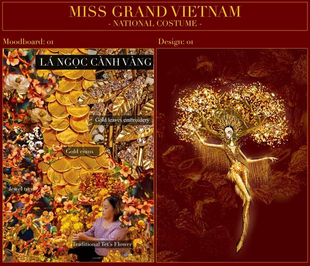 Phác thảo quốc phục Á hậu Ngọc Thảo mang đi chiến tại Miss Grand International, 1 bộ gây tranh cãi vì phá cách quá đà - Ảnh 2.