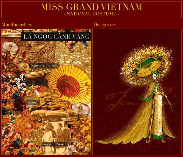 Phác thảo quốc phục Á hậu Ngọc Thảo mang đi chiến tại Miss Grand International, 1 bộ gây tranh cãi vì phá cách quá đà - Ảnh 3.