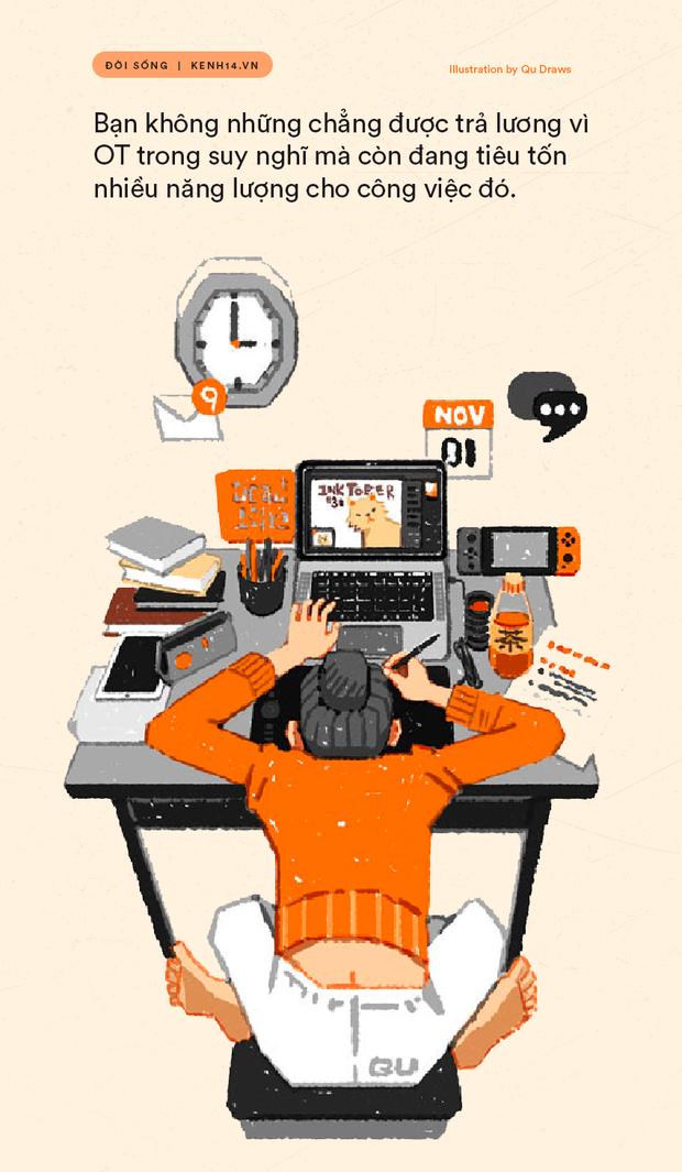 Những người trẻ làm ngoài giờ trong suy nghĩ: Đừng nghĩ chỉ ở công ty trễ hay mang việc về nhà mới là OT - Ảnh 3.