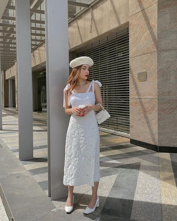 5 mẫu giày hoàn hảo để mix với váy trắng: Vừa tôn dáng hết cỡ, vừa tăng gấp mấy lần vẻ tinh tế và sang chảnh - Ảnh 3.