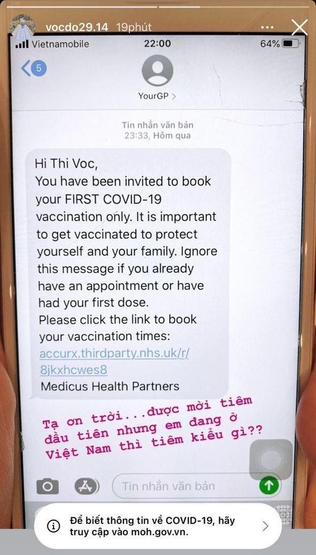 Nàng WAG Việt giàu sụ bất ngờ nhận tin nhắn nằm trong nhóm ưu tiên, được tiêm vaccine Covid-19 lượt đầu tiên ở Anh - Ảnh 2.