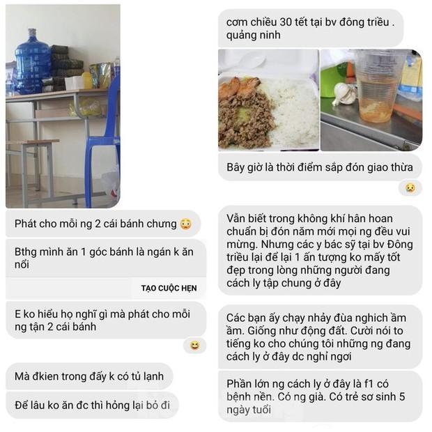 Vụ cắt xén bữa ăn ở Quảng Ninh: Những tin nhắn từ trong khu cách ly - Ảnh 3.