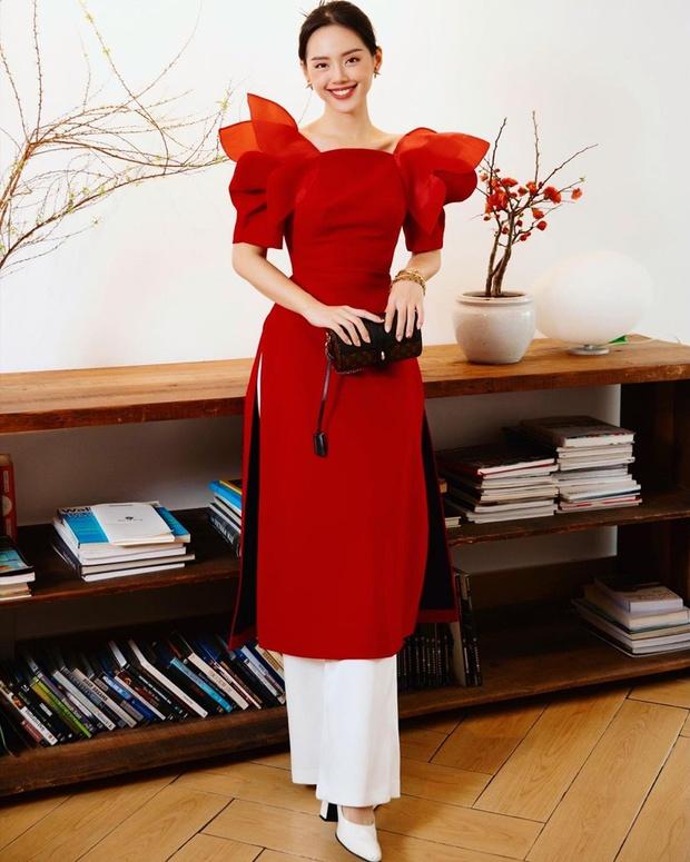 Ninh Dương Lan Ngọc, Khánh Linh và loạt mỹ nhân Vbiz đụng chung 1 kiểu áo dài, ai diện đẹp nhất? - Ảnh 2.