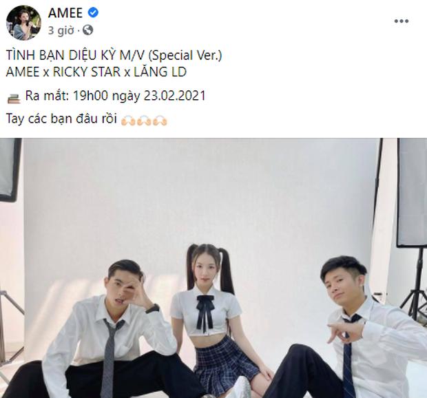 Tình Bạn Diệu Kỳ đang hot hòn họt khắp MXH, AMEE - Ricky Star - Lăng LD công bố sẽ có MV phiên bản đặc biệt ngay và luôn! - Ảnh 2.