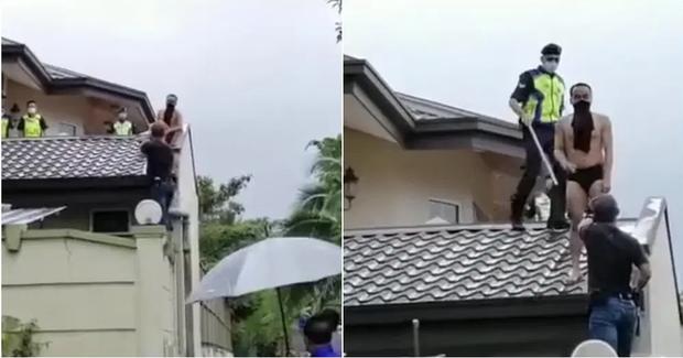 Đi ăn trộm bị chó đuổi sợ chết khiếp, gã đàn ông nhảy tót lên mái nhà, không ai nhịn được cười khi thấy bộ dạng của hắn lúc bị bắt - Ảnh 2.