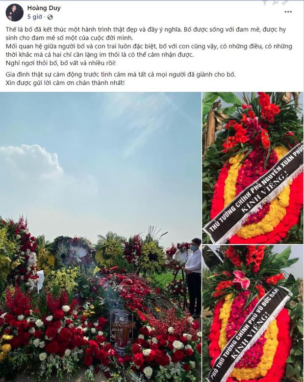 """Con trai viết status tiễn biệt NSND Hoàng Dũng kèm hình ảnh phần mộ phủ kín hoa: """"Nghỉ ngơi thôi bố, bố vất vả nhiều rồi!"""" - Ảnh 2."""