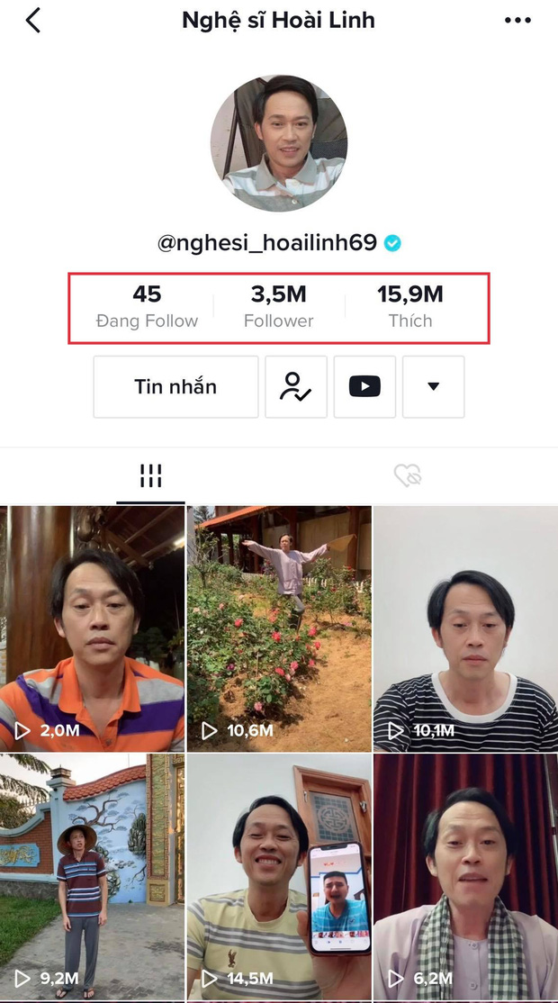 Người chơi hệ MXH đỉnh nhất Vbiz gọi tên NS Hoài Linh: Đạt nửa triệu đăng kí sau 2 tuần, con trai và dàn sao Vbiz chúc mừng - Ảnh 8.